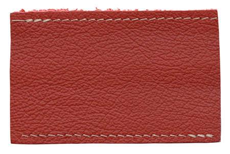 Blank leather label isolated on white background Stock Photo - 9702736