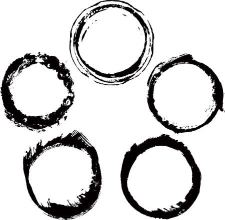 grain grunge: ink frames set
