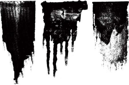 hardcore: ink brush set Illustration
