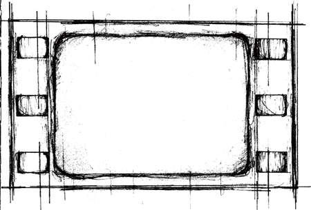 photo slide: grunge filmstrip frame