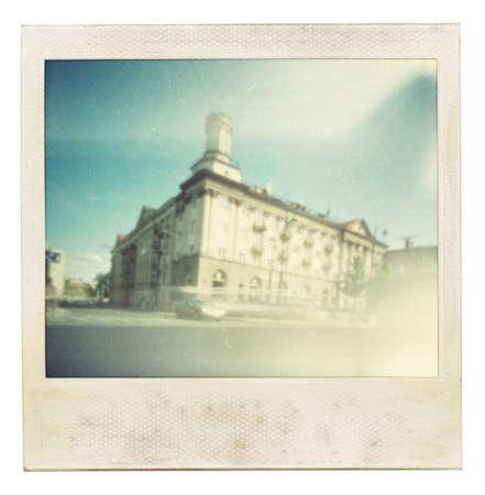 Designed vintage instant photo photo