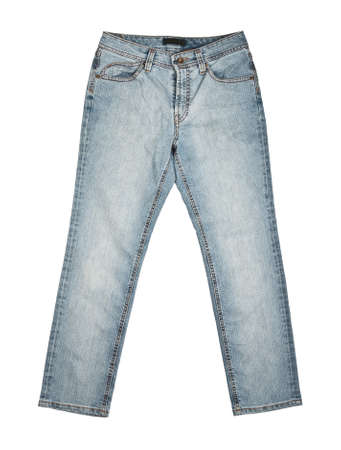 Jeans trousers isolated on white. photo