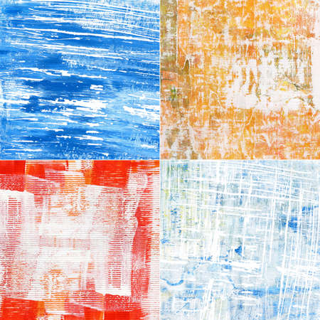 Painted abstract acrylic grunge backgrounds. Made myself. photo