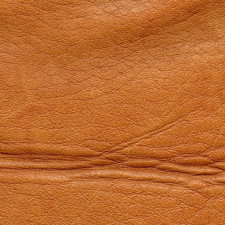 corrugation: Brown leather texture close up