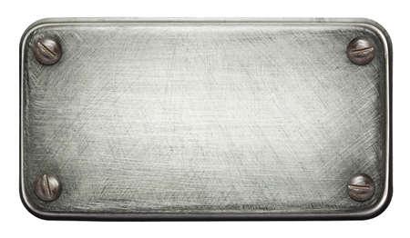 piastra acciaio: Piastra metallica consistenza con viti. Archivio Fotografico