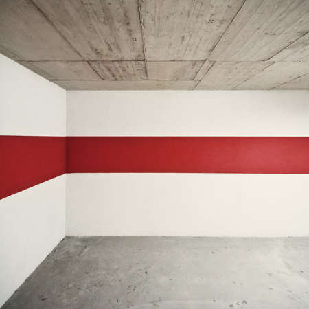 Empty wall with red line, can be used as background  Stock Photo - 10205065
