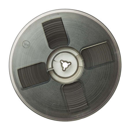 reel: Vintage magnetic audio reel, isolated.