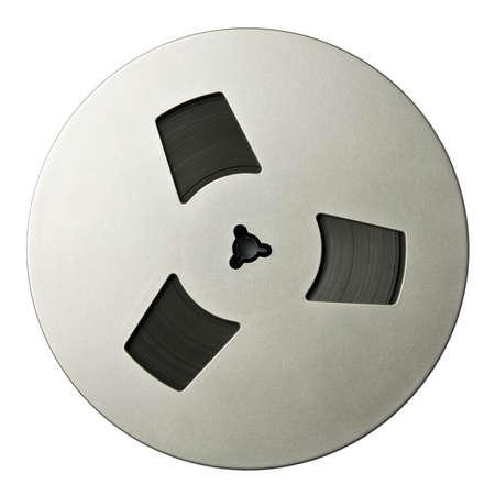 tape recorder: Vintage magnético audio tambores y aislado.