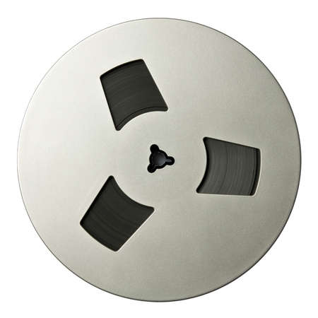 analogue: Vintage magnetic audio reel, isolated.