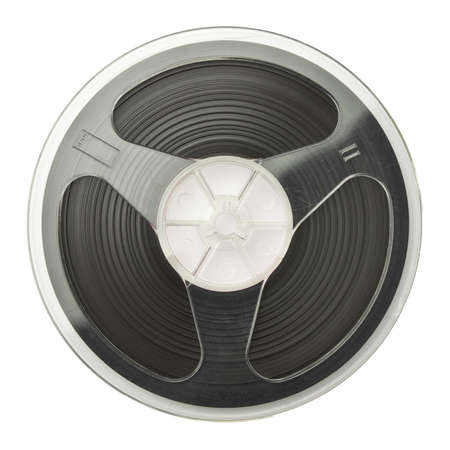 Vintage magnetic audio reel, isolated. Stock Photo - 10323641