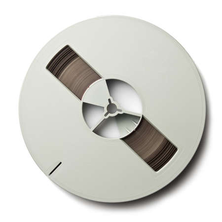 Vintage magnetic audio reel, isolated. Stock Photo - 10323643