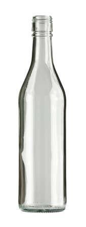 colourless: Botella de vidrio incoloro vac�a, aislada.