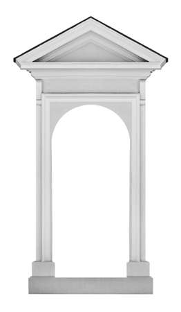 arcos de piedra: Edificio antiguo clásico elemento exterior, aislado.