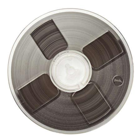 grabadora: Vintage magn�tico audio tambores y aislado.