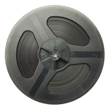 Vintage magnetic audio reel, isolated. photo