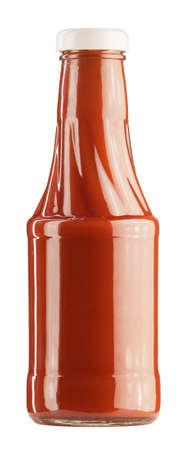 Ketchup-Flasche auf einem weißen Hintergrund