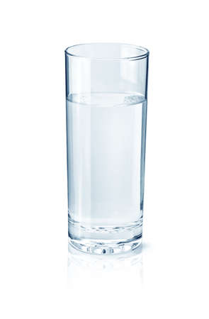 glass half full: Glass of water isolated on white
