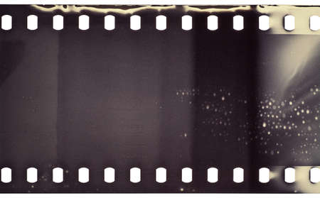 Textura de tira de pel?cula granulada en blanco Foto de archivo