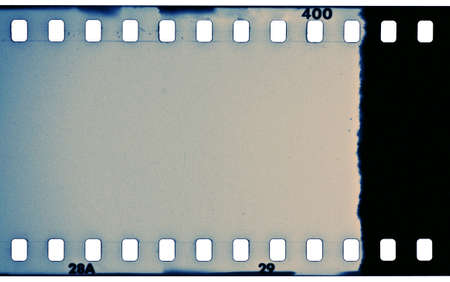 Blank grained film strip texture photo