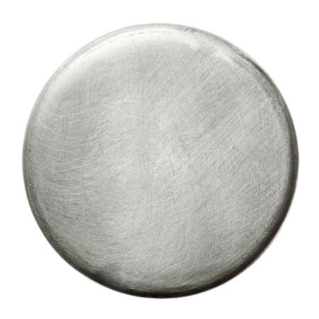 metal plate: Scratched round metal plate texture