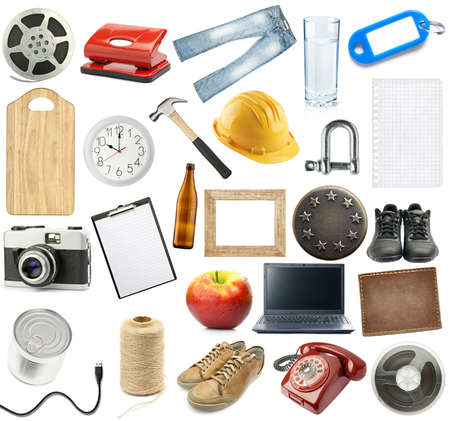 Different objects collection, isolated on white. Stock Photo - 10730253