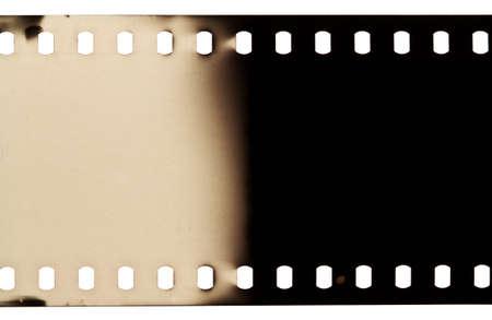 Blank grained film strip texture photo