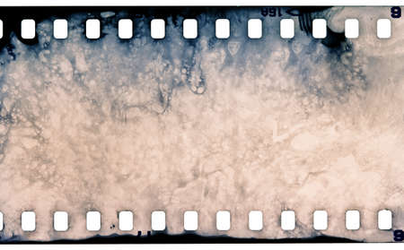 grained: Blank grained film strip texture