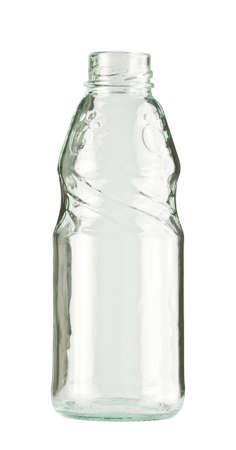 colourless: Botella vac�a de vidrio incoloro, aislado.