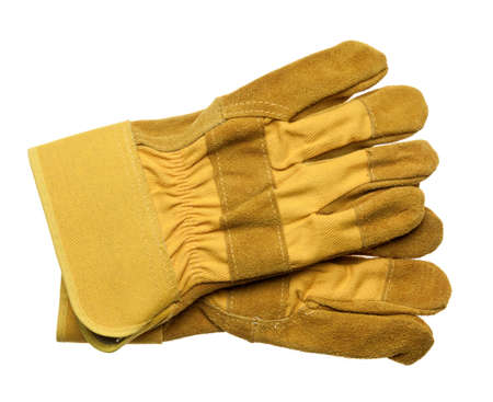 Protective gloves, isolated on white Banco de Imagens