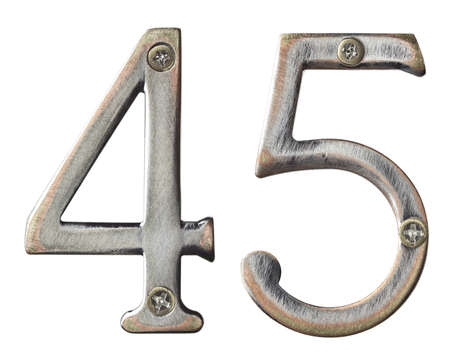 Aged metal numbers with screw heads Stock Photo - 10821745