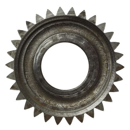 Machine gear, metal cogwheel. Isolated on white. Stock Photo - 10993298