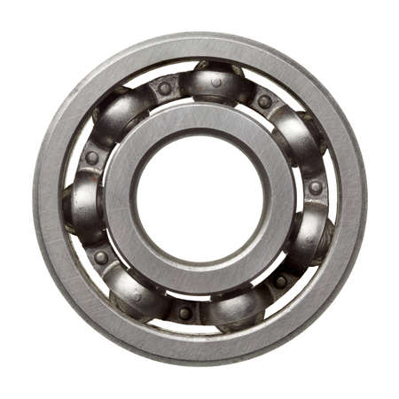 pulley: Used metal ball bearing, isolated.