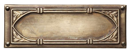 shiny metal: Vintage ornate metal frame, isolated.