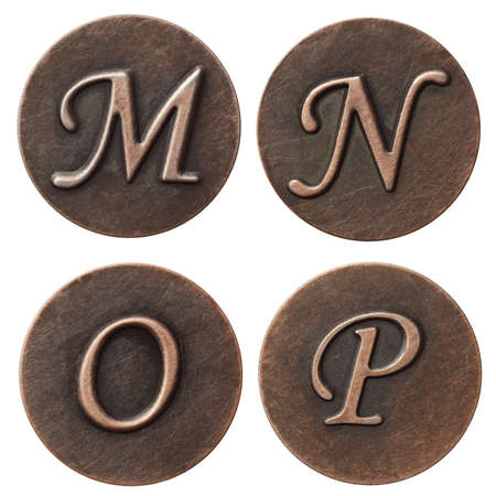 Aged metal vintage alphabet letters. Stock Photo - 10993329