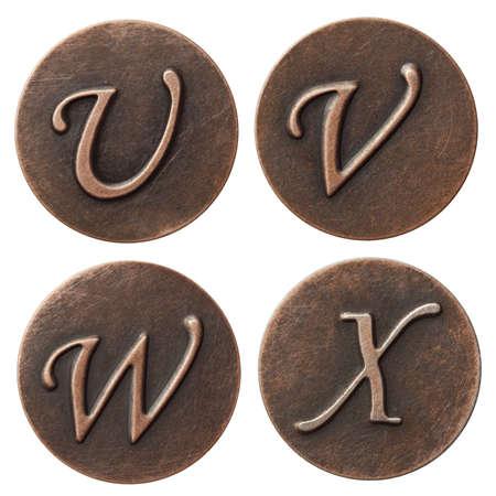 Aged metal vintage alphabet letters. Stock Photo - 10993331