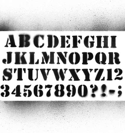 alfabeto graffiti: Graffiti alfabeto splatted con i numeri. Archivio Fotografico