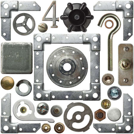 screw heads: Screw heads, frames and other metal details