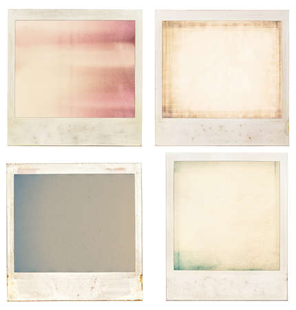 photo edge: Designed retro instant film frames with abstract filling.