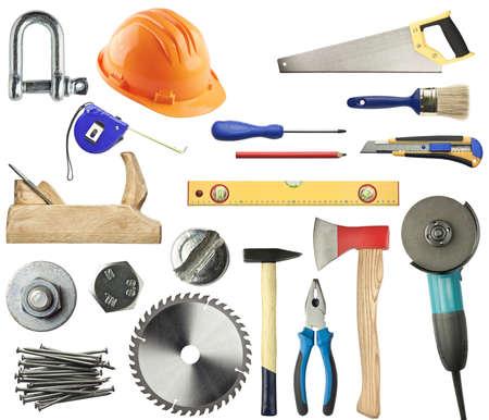 herramientas de construccion: Herramientas para madera, metal y otros trabajos de construcción.