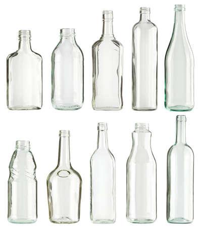 reciclar vidrio: Botellas de vidrio Vac�o recogida, aislado