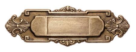 art deco background: Vintage ornate metal frame, isolated.