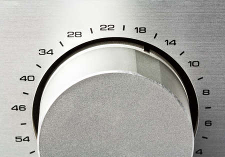 adjustment: Sound amplifier. Volume knob close up.