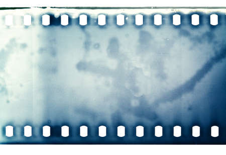 projection: Blank grained film strip texture