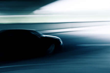 dynamic movement: Abstract motion blurred car  Stock Photo