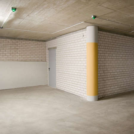 Empty parking, garage lot area. Stock Photo - 11312092