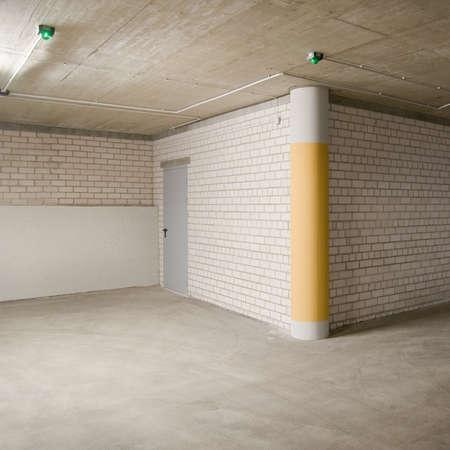 Empty parking, garage lot area. Stock Photo - 11312092
