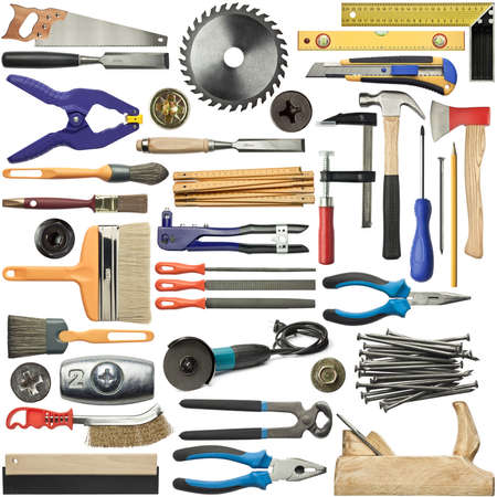 nippers: Tools for wood, metal and other construction work.