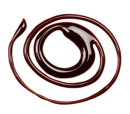Chocolate swirl, isolated on white background photo