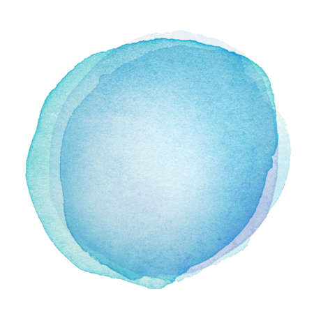 watercolor blue: Designed abstract watercolor background, design element. Stock Photo