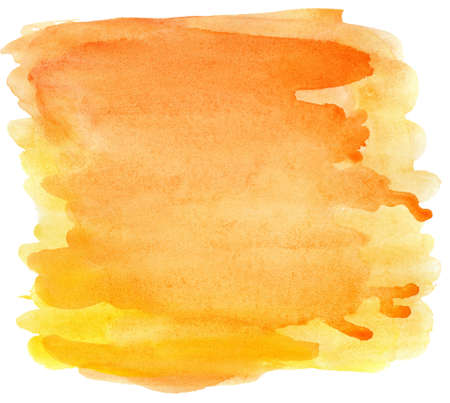 Abstract hand painted watercolor background, isolated.